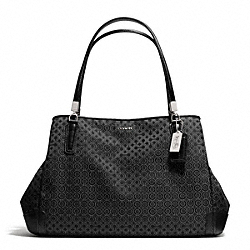 COACH MADISONOP ART PEARLESCENT CAFE CARRYALL - SILVER/BLACK - F27905