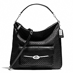 COACH MADISON OP ART PEARLESCENT HOBO - SILVER/BLACK - F27906