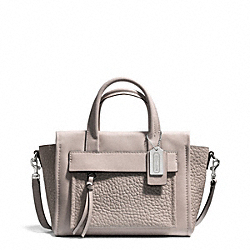 COACH BLEECKER LEATHER MINI RILEY CARRYALL - SILVER/GREY BIRCH - F27923