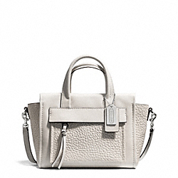 COACH BLEECKER LEATHER MINI RILEY CARRYALL - SILVER/PARCHMENT - F27923