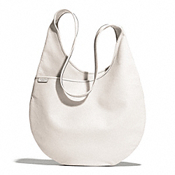 COACH BLEECKER LEATHER SLING BAG - SILVER/PARCHMENT - F27925