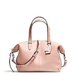 COACH BLEECKER PEBBLED LEATHER SMALL COOPER SATCHEL - SILVER/PEACH ROSE - F27926
