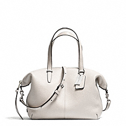 COACH BLEECKER PEBBLED LEATHER SMALL COOPER SATCHEL - SILVER/PARCHMENT - F27926