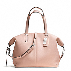 COACH BLEECKER PEBBLED LEATHER COOPER SATCHEL - SILVER/PEACH ROSE - F27930