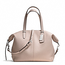 COACH BLEECKER PEBBLED LEATHER COOPER SATCHEL - SILVER/GREY BIRCH - F27930