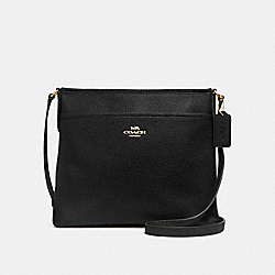 FILE CROSSBODY - BLACK/IMITATION GOLD - COACH F28035