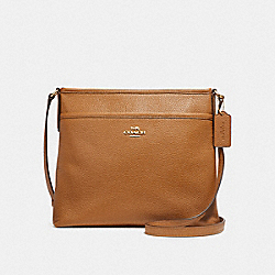 COACH FILE CROSSBODY - LIGHT SADDLE/IMITATION GOLD - F28035