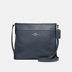 FILE CROSSBODY - MIDNIGHT/IMITATION GOLD - COACH F28035