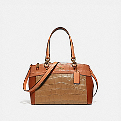 COACH MINI BROOKE CARRYALL IN COLORBLOCK - IMMU4 - F28079