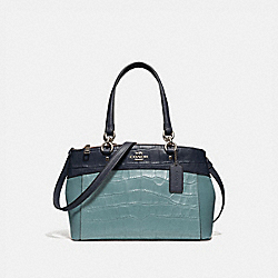 COACH MINI BROOKE CARRYALL IN COLORBLOCK - SVNGV - F28079