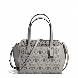 COACH TAYLOR EYELET LEATHER BETTE MINI TOTE CROSSBODY - SILVER/GREY - F28081