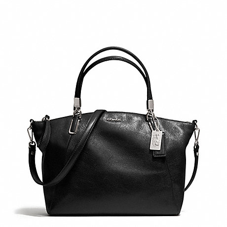COACH SMALL KELSEY SATCHEL IN LEATHER -  SILVER/BLACK - f28095