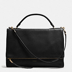 COACH THE PEBBLED LEATHER URBANE BAG - LIGHT GOLD/BLACK - F28133