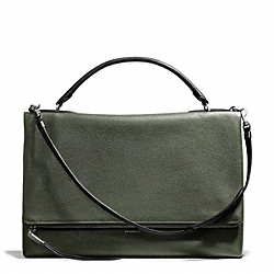 THE PEBBLED LEATHER URBANE BAG - SILVER/ALPINE MOSS - COACH F28133