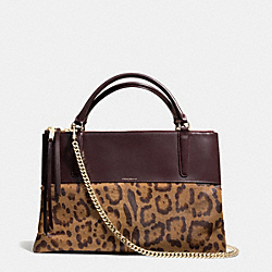 COACH THE LEOPARD HAIRCALF BOROUGH BAG - LIGHT GOLD/PORT/MULTICOLOR - F28144