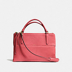 THE BOROUGH BAG IN PEBBLE LEATHER - GOLD/LOGANBERRY - COACH F28160