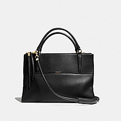 COACH THE BOROUGH BAG IN PEBBLE LEATHER - LIGHT GOLD/BLACK - F28160