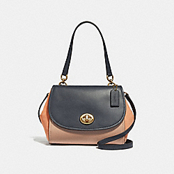 FAYE CARRYALL IN COLORBLOCK - f28178 - SUNRISE MULTI/light gold