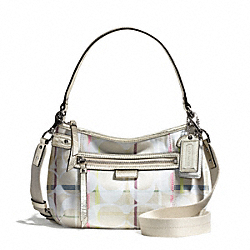 COACH DAISY 24CM SIGNATURE TATTERSALL CROSSBODY - ONE COLOR - F28210