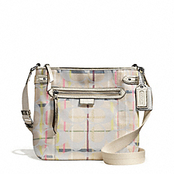COACH DAISY 24CM SIGNATURE TATTERSALL FILE BAG - ONE COLOR - F28211