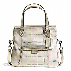 COACH DAISY 24CM SIGNATURE TATTERSALL MIA - ONE COLOR - F28283