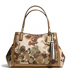 COACH MADISON CAFE CARRYALL IN CAMO PRINT FABRIC - LIGHT GOLD/MULTICOLOR - F28321