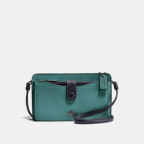 COACH NOA POP-UP MESSENGER IN COLORBLOCK - MARINE MULTI/SILVER - F28337