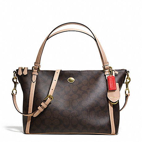 COACH f28366 PEYTON SIGNATURE EAST/WEST CONVERTIBLE SHOULDER BAG