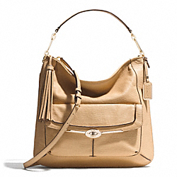 COACH MADISON PINNACLE TEXTURED LEATHER HOBO - LIGHT GOLD/TAN - F28381