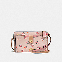 POP-UP MESSENGER WITH FLORAL BLOOM PRINT - BEECHWOOD FLORAL BLOOM/LIGHT GOLD - COACH F28418