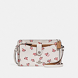 NOA POP-UP MESSENGER WITH FLORAL BLOOM PRINT - CHALK FLORAL BLOOM/SILVER - COACH F28418