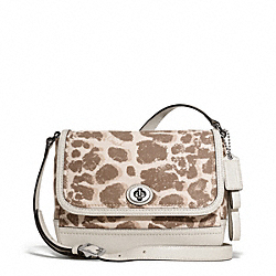 COACH PARK GIRAFFE PRINT VIOLET CROSSBODY - ONE COLOR - F28423
