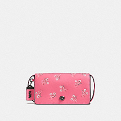 DINKY WITH FLORAL BOW PRINT - BRIGHT PINK/BLACK COPPER - COACH F28433