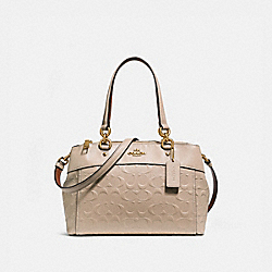 COACH MINI BROOKE CARRYALL IN SIGNATURE LEATHER - NUDE PINK/LIGHT GOLD - F28472