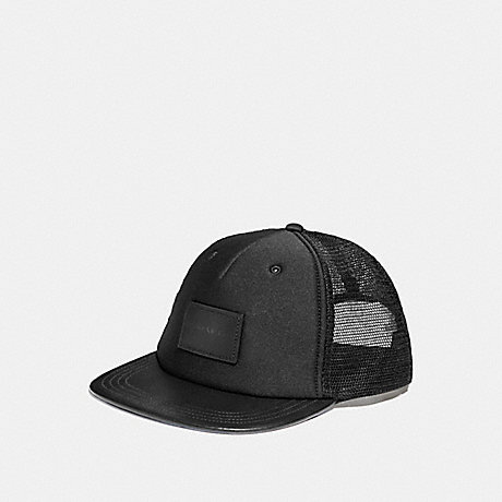 COACH FLAT BRIM HAT - BLACK - f28487