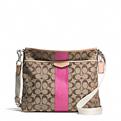 COACH SIGNATURE STRIPE 12CM FILE BAG - ONE COLOR - F28502