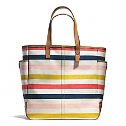 COACH HADLEY MULTISTRIPE BEACH TOTE - ONE COLOR - F28523