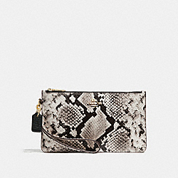 CROSBY CLUTCH - LIGHT GOLD/BLACK MULTI - COACH F28556