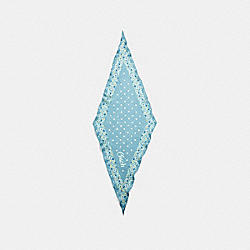 COACH COACH FLORAL SILK DIAMOND - AQUAMARINE - F28560