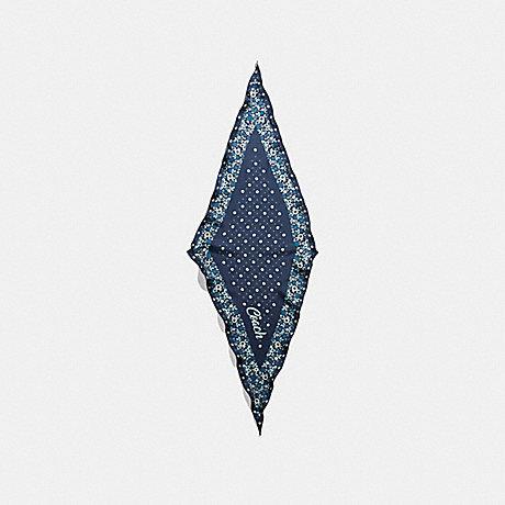 COACH f28560 COACH FLORAL SILK DIAMOND MIDNIGHT NAVY