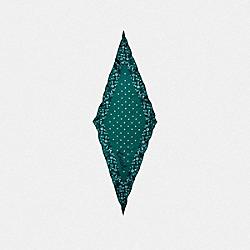 COACH FLORAL PRINT SILK DIAMOND SCARF - VIRIDIAN - COACH F28560