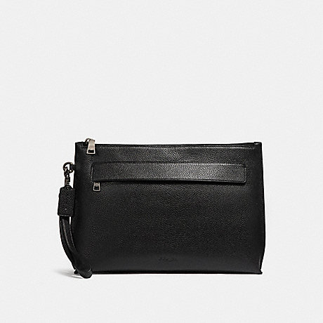 COACH f28614 CARRYALL POUCH BLACK