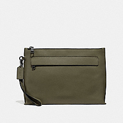 CARRYALL POUCH - SURPLUS/BLACK ANTIQUE NICKEL - COACH F28614