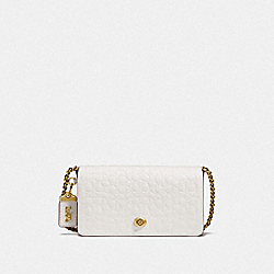 DINKY IN SIGNATURE LEATHER - OL/CHALK - COACH F28631