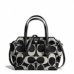 COACH TAYLOR SIGNATURE BETTE MINI TOTE CROSSBODY - SILVER/BLACK/WHITE/BLACK - F28641