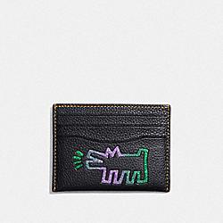 COACH X KEITH HARING CARD CASE - BP/BLACK - COACH F28686