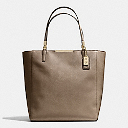 COACH MADISON  SAFFIANO LEATHER NORTH/SOUTH TOTE - LIGHT GOLD/BRONZE - F28743