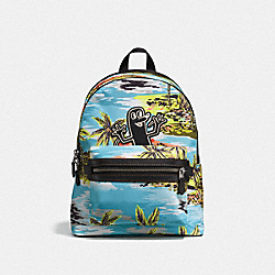 COACH X KEITH HARING ACADEMY BACKPACK - JI/HAWAIIAN - BLUE - COACH F28754