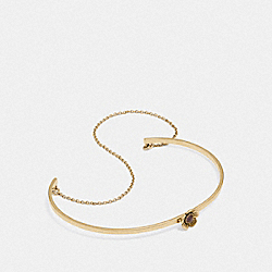 DEMI-FINE TEA ROSE CHAIN CUFF - AMETHYST/GOLD - COACH F28830