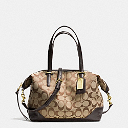 COACH BLEECKER SIGNATURE SMALL COOPER SATCHEL - BRASS/KHAKI/MAHOGANY - F28881